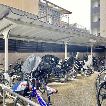 駐輪場もありましたよ。