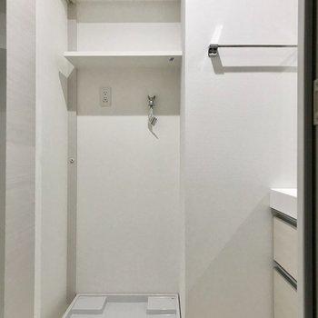 洗濯機も脱衣所にありました(※写真は2階の同間取り別部屋のものです)
