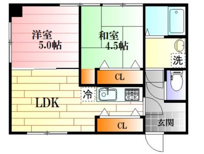 アパートメント横川荘の間取り