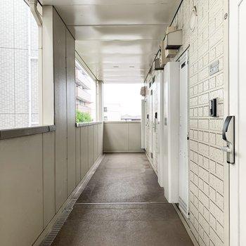 共用廊下もきちんと整備されています。