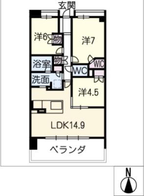 パークナード名古屋駅203号室の間取り
