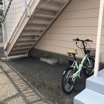 駐輪場も敷地内に!