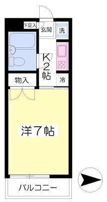 エクセル新横浜Bの間取り
