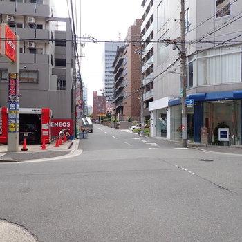 【周辺環境】大通りは1本向こう。ですがこの静けさ。