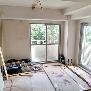 工事中】床も貼られて完成間近です!