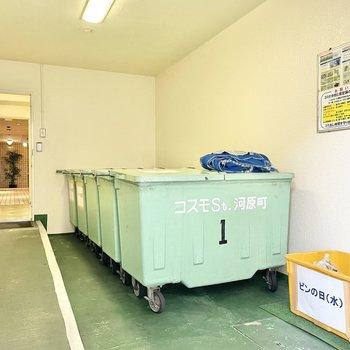 ゴミは敷地内に、裏から出入りできますよ〜〜