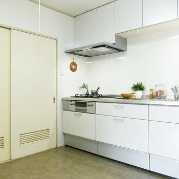 【キッチン】キッチンスペースが広ーい。
