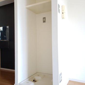 洗濯機置場もしっかりありますよ(※写真は7階の同間取り別部屋のものです)