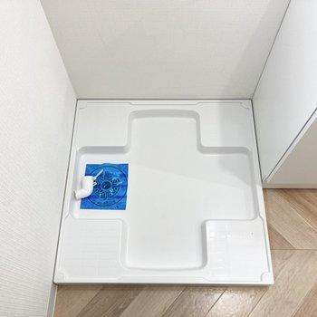 奥には洗濯機置き場。