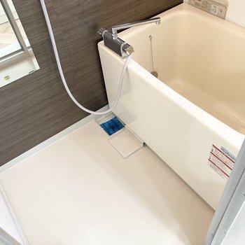シャワー派に使いやすい広さです。