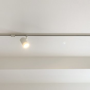 天井にはライティングレール。 ※写真は6階の反転間取り別部屋のもの