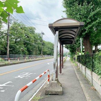 近くにバス停がありサクッと駅まで行けます。