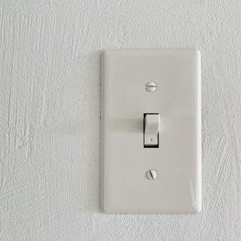 壁はクロスではなくすべて塗壁で、スイッチもオシャレです。