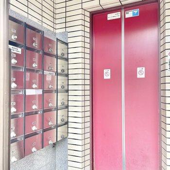 入り口すぐがエレベーターです。