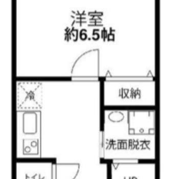 キッチンのあたりの広さが特徴的。