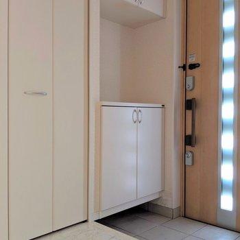玄関も採光デザインだから明るい♬(※写真は1階の同間取り別部屋のものです)