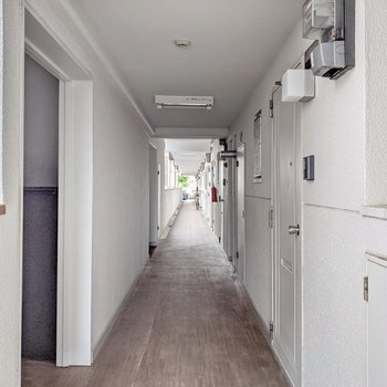 共用廊下もきれいになっています。