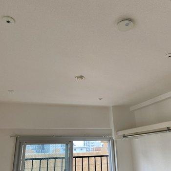 天井に取り付ければ室内物干しができます。ドライフラワーやグリーンを吊るしてもいいですね。