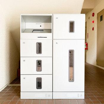 便利な宅配ボックス付き。忙しい時に助かりますね。
