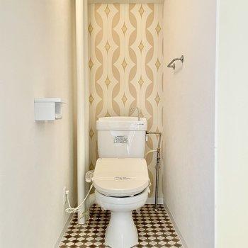 トイレはさらにかわいくおめかしされてます。