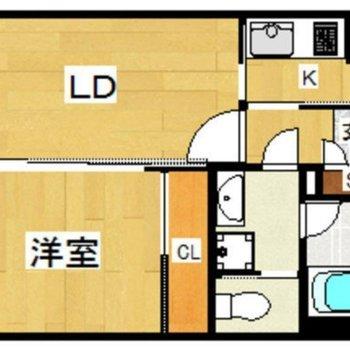 ゆったり1人暮らしに。1LDKのお部屋です。