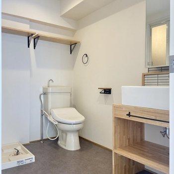 洗面所とトイレは同室になります。