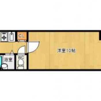 洋室広めの1K。家具選びを楽しみたい!