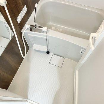 お風呂も単身者向きサイズ。