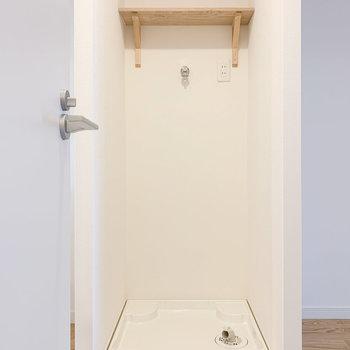【イメージ】洗濯機置き場は便利な枕棚つき!