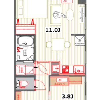 収納が多く、広々としたお部屋。