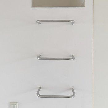 では、ロフトへ。格好いいはしごだけど、落ちないように気をつけて。(※写真は7階の同間取り別部屋のものです)