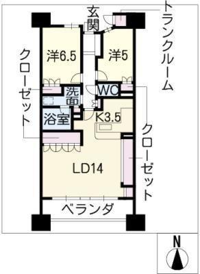 栄アインスタワー1802号の間取り