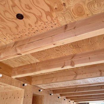 木造建てのこのお部屋。全身、木を纏っていました・・!(※写真は同間取り別部屋のものです)