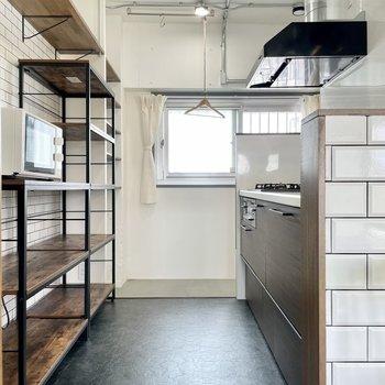 キッチンは決して狭くなく、動きやすかったです。