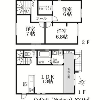 その秘密は広い玄関土間!ペットが飼育できる2階建てのお部屋です♩