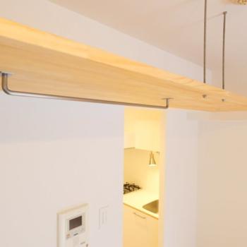 【完成イメージ】収納は天井に吊り戸タイプ。お店のようなレイアウトも楽しみたい