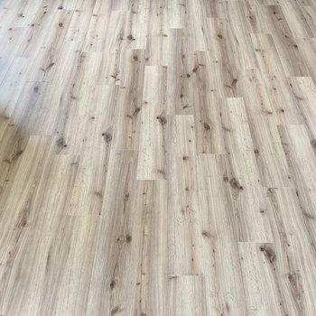この床の木目が素敵です。ナチュラルやインダストリアルなテイストが似合いそう。