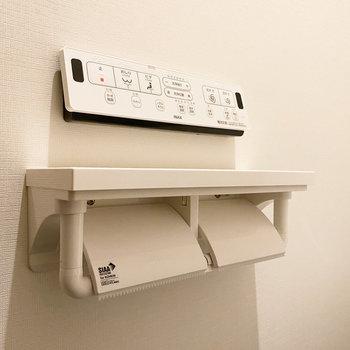 多彩な機能が付いた温水洗浄便座が頼もしい。