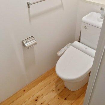 トイレはウォシュレットつきです。(※写真は5階の別部屋のものです)