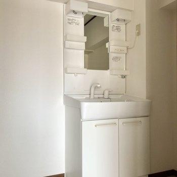 最後はサニタリー。洗面台綺麗です!
