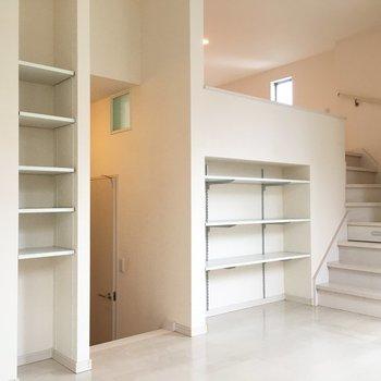 階段がたくさん。ワクワクするお部屋。(※写真は1階の同間取り別部屋のものです)