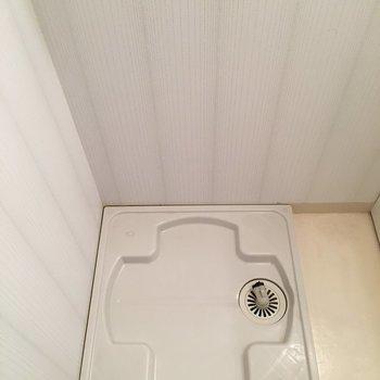 横には洗濯機を置けますよ。(※写真は1階の同間取り別部屋のものです)