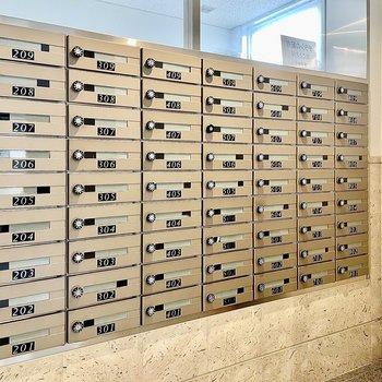 【共有部】メールボックスはダイヤル施錠できます。