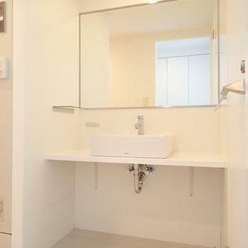 そして洗面台!鏡が立派です~!