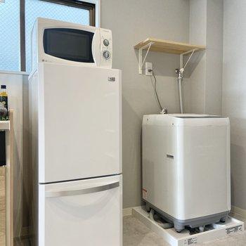 【LDK】冷蔵庫や洗濯機はこちら側に。