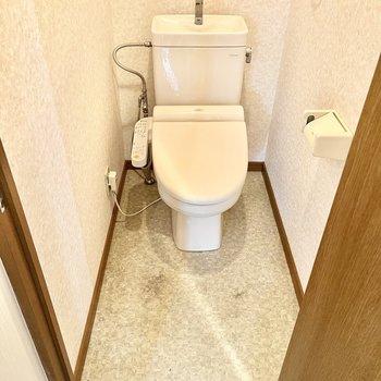 トイレはウォシュレット付きです。(※写真は清掃、リフォーム中のものです)