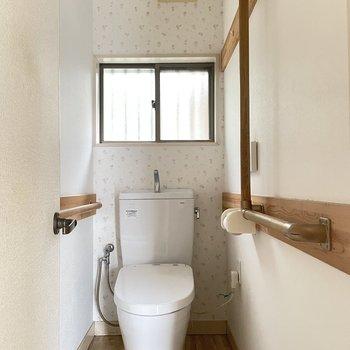 【1階】トイレは手すりがついています