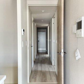 お次は廊下まわりへ。テレビモニターフォンは扉そばに。