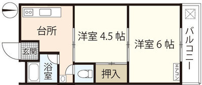 新原第1マンションの間取り