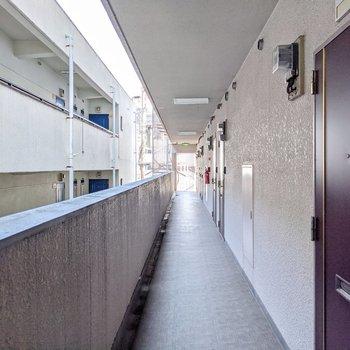 共用廊下側は建物が近いです。